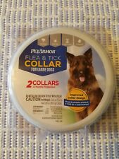 New PetArmor Flea & Tick 2-Count Prevention Collar~LARGE DOGS~2 collar container