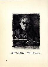 Käthe Kollwitz Selbstbild Radierung / AlterMann / Studie: Ohr Histor. Grafik1930
