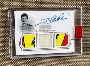 1/1 2020 Topps Dynasty Formula 1 Racing Charles Leclerc 3xPatch Auto Autograph🔥