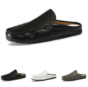 Mens Pumps Slip on Breathable Comfy Casual Slingbacks Slippers Loafers Shoes D