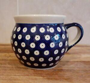 Boleslawiec Mug 0.42L Handmade Polish pottery