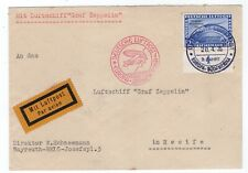2M Chicagofahrt Ovpt on Graf Zeppelin 1935 Flight Cover Recife - On Board CCL