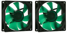 2 x Nanoxia 92mm PWM Deep Silence Quiet PC Case Fan 400-1400 RPM, 4-Pin