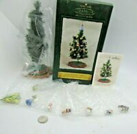 Hallmark Ornament 2002 CHRISTMAS TREE with DECORATIONS, 8 Piece set, NOS