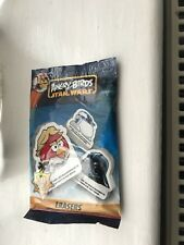 Angry Birds Star Wars erasers Unopened bag. 2 erasers plus 2 stickers New