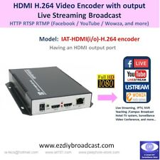 HDMI in / output 1080P H.264 encoder HTTP RTSP RTMP YouTube Facebook live stream