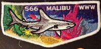 MALIBU LODGE 566 OA WESTERN LOS ANGELES COUNTY COUNCIL CA PATCH FF S1 FIRST FLAP