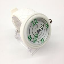 VON DUTCH SWISS MADE Unisex Large White XL Watch GREEN ACCENTS SL99MWG00PW