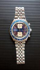 Seiko Kakume Blue Japan Chronograph Tachymeter 6138-0040 Men's Watch