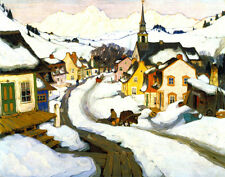 Gagnon Clarence Village In The Laurentian Mountians Good One    #3296
