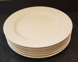 6 X MAXWELL WILLIAMS WHITE  BASICS HUGE 12 INCH DINNER  PLATES + 1 MATCHING