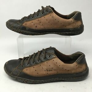 BOC Born Concept Womens 8.5M Lace Up Oxford Casual Shoes Brown Leather BC6139