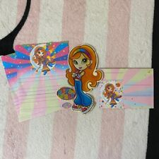 Lisa Frank Star Moon Girl Stationery Paper Cutout & Envelope Set