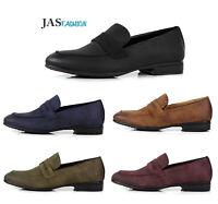 Mens Smart Slip On Shoes Dress Office Designer Formal Work Wedding Style Sizes