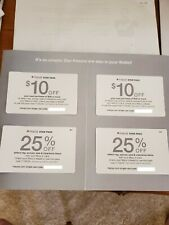 Macy's coupons lot of 4 expire 11/30/2020