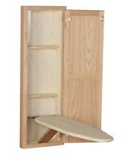 Wall Mount Hideaway Ironing Board Cabinet Storage Built Cabinet Oak Wood