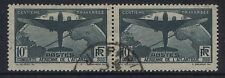 FRANCE - 1936 S.AMERICA FLIGHT 10f PAIR  FINE USED  SG.554.(REF.305)