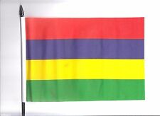 Mauritius Medium Hand Waving Flag