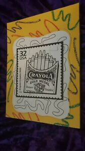 32 CENT CENTS USA STAMP Gold Medal 8 Colors Crayola Crayons 1903 PUZZLE (1998) !