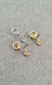 9ct 'Circle of Life) Diamond Earrings