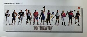 "Nike BO JACKSON Poster ""Don't I Know You?"" Factory Sealed with Foil Label"