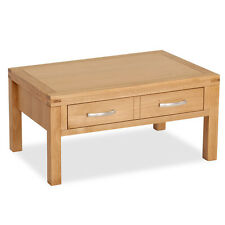 Abbey Light Oak Coffee Table / Natural Oak Lounge Table / Solid Wood Table / New