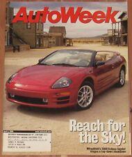 APRIL 3 2000 AUTOWEEK MAGAZINE MITSUBISHI ECLIPSE SPYDER, LAPIN AGILE, MAZDA MPV