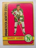 1972-73 OPC O-Pee-Chee #101 Barry Gibbs Minnesota North Stars - VG