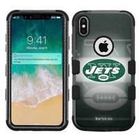 for Apple iPhone X (Ten) Armor Impact Hybrid Cover Case New York Jets #BG