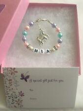 Unicorn Personalised Name Bracelet Unicorn Bracelet Gift Birthday Gift Box