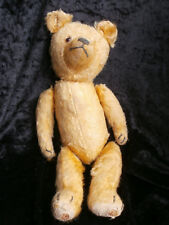 antiker Teddy Bär  34 cm  gelb antique vintage bear teddy bear yellow