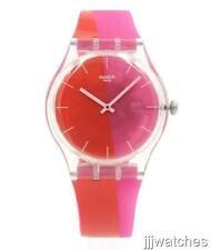 New Swatch Originals Beach Swing LAMPOONIA Silicone Watch 41mm SUOK117 $75