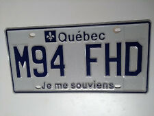 Quebec Canada Car Plaque immatriculation - Licence plates  COLLECTIBLE #M94 FHD