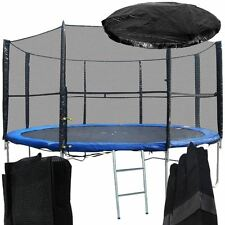 NEW 8FT REPLACEMENT 6 POLE TRAMPOLINE SAFETY NET ENCLOSURE SURROUND OUTDOOR