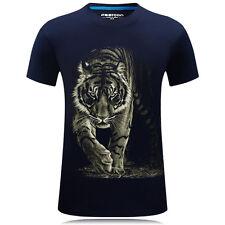 New Mens 3D Tiger T-shirt tops Animal print Short sleeve shirts Plus size S-6XL