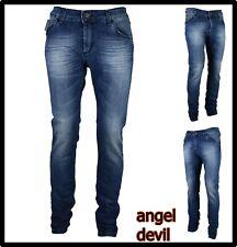 jeans pantaloni donna elasticizzati vita bassa skinny push up angel devil 48 50