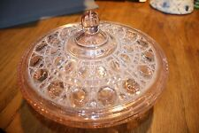 OLD Pink Carnival Glass Candy Bowl
