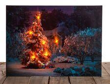 Christmas 40cm x 30cm LED Christmas Tree Canvas Picture