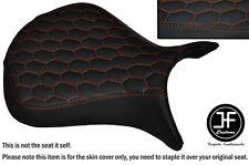 HEX DESIGN ORANGE ST CUSTOM FOR KAWASAKI NINJA ZX6R 07-08 FRONT VINYL SEAT COVER