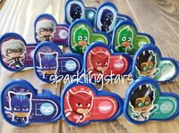 12 pcs Pj Masks Birthday Cake Cupcake Rings Party Supplies Decoration