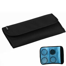 4 Pockets DSLR Camera Filter Protector Case Bag Pouch for 49 55 58 67 72 77 82mm