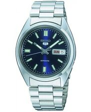 Seiko 5 Men's Automatic Watches Blue Dial Steel Bracelet RRP £149 SNXS77