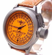 Russian Divers mecanical watch with 24-Hour Dial – submarine Kriegsmarine U-47