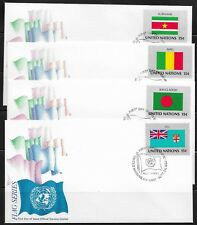 UN Scott #NY 325-40, First Day Covers 9/26/80 Flag Series