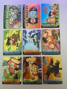 Lot 9 cartes Dragon Ball The Episodes Trading Card Chromium DB USA Amada 1996