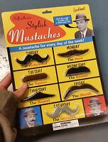 14 Costume Theater Fake Stylish Stick on Sticky Mustache Halloween Costume