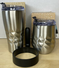 Primula 14/20-oz Insulated Hot Cold Thermal Tumbler Brushed Stainless Steel Lot