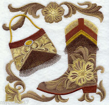 Western Fashion Set Of 2 Bath Hand Towels Embroidered By Laura
