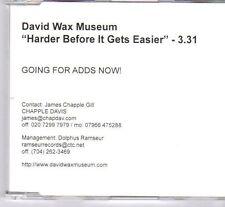 (DX793) David Wax Museum, Harder Before It Gets Easier - 2003 DJ CD