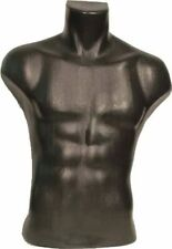 Male Torso Dress Form Mannequin Display Bust Black (#5027)